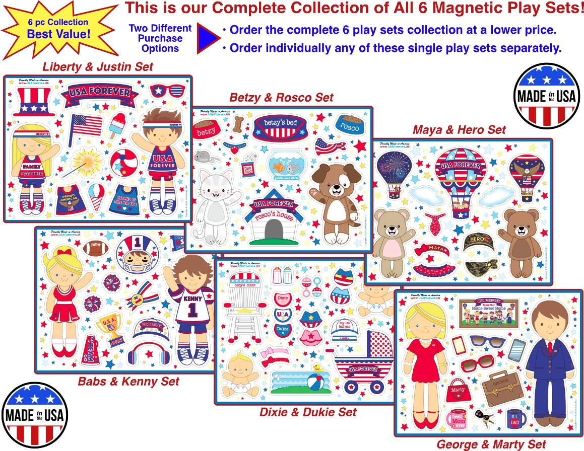 USA Forever All-American Family Magnetic Play Sets & Puzzles Collection by USA Forever
