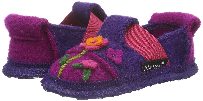 Nanga Mädchen Flower Bed Flache Hausschuhe, Violett (Pflaume/49), 26 EU