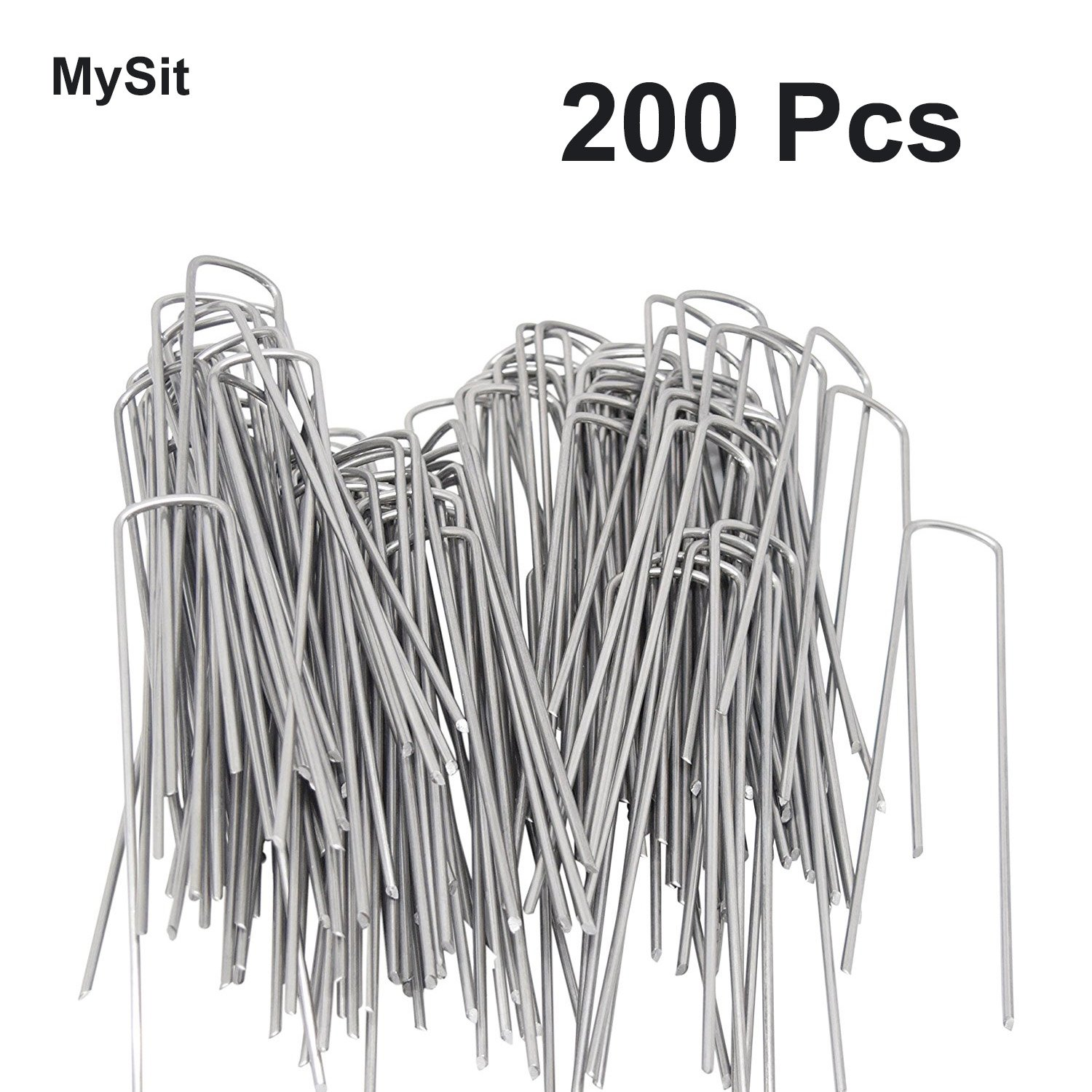 200-Pack Anti-Rust Galvanized Ground Staples 6