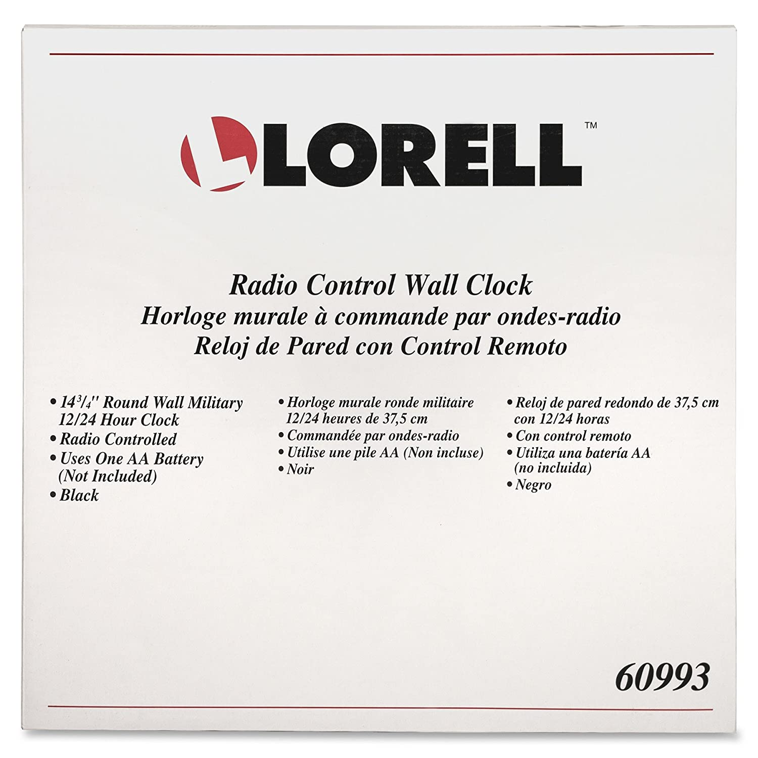 Amazon.com: Lorell Military Wall Clock, 14-3/4-Inch, White Dial/Black Frame: Home & Kitchen