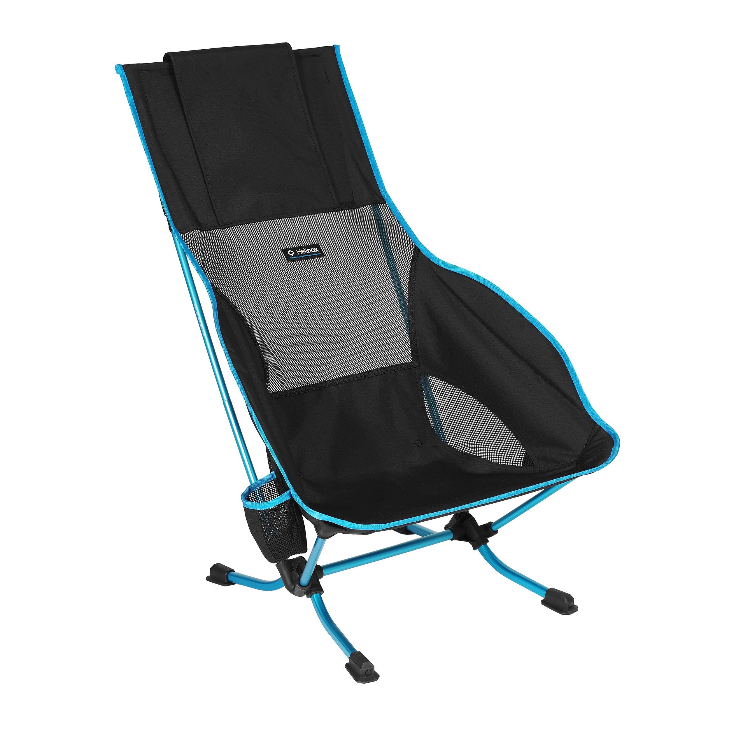 Helinox Playa Lightweight High-Back Collapsible Beach Chair, Black