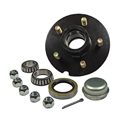 """Rigid Hitch Trailer Hub Kit - for 1-3/8"""" Inner / 1-1/16"""" Outer Tapered Spindle - 5 Bolt on 4-1/2"""" Bolt Circle: Sports & Outdoors"""