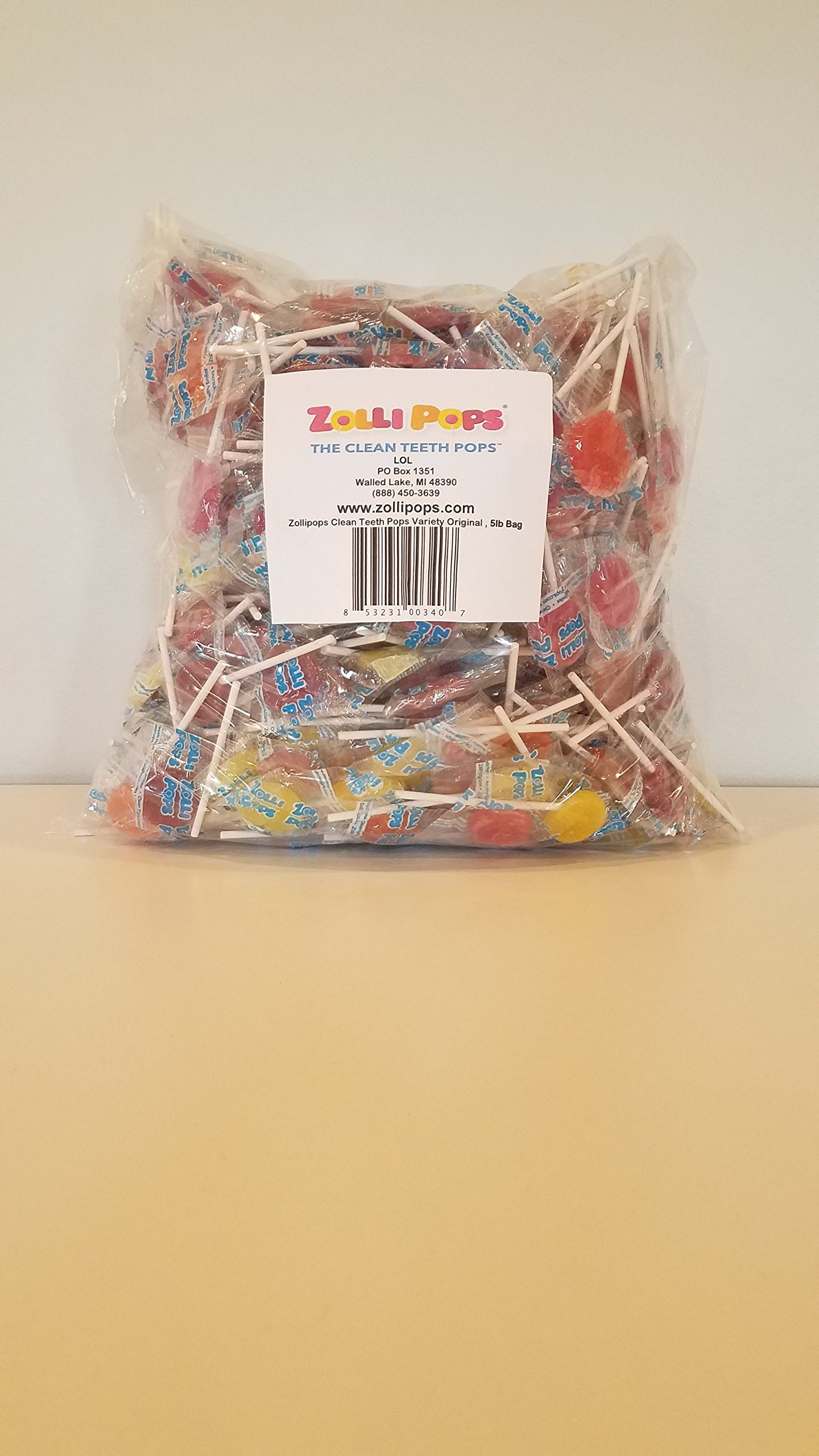 Zollipops Variety Bulk, Natural Fruit, 80 Ounce by Zollipops