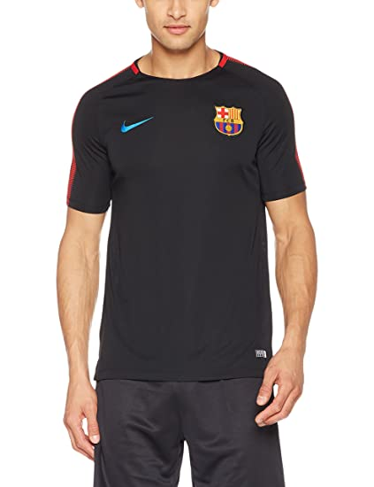 Amazon.com  Nike Mens FCB Barcelona Short Sleeve Training Top Black University  Red 854253-011 Size Small  Clothing 665a53722