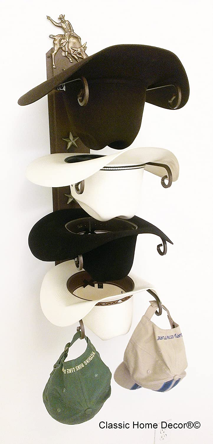 Mark Christopher Collection Cowboy Hat Holder Bull Rider CT American Made Classic Home Decor 664 Bull Rider BCT