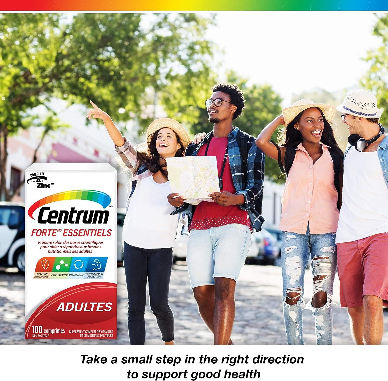 Centrum Forte Essentials, Complete Multivitamin & Mineral Supplement, Adults, 100 Tablets
