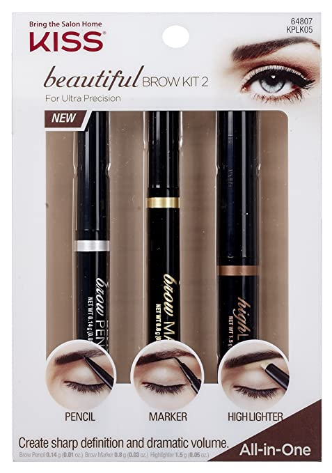 Kiss Beautiful Brow Kit - Precision (KPLK05)