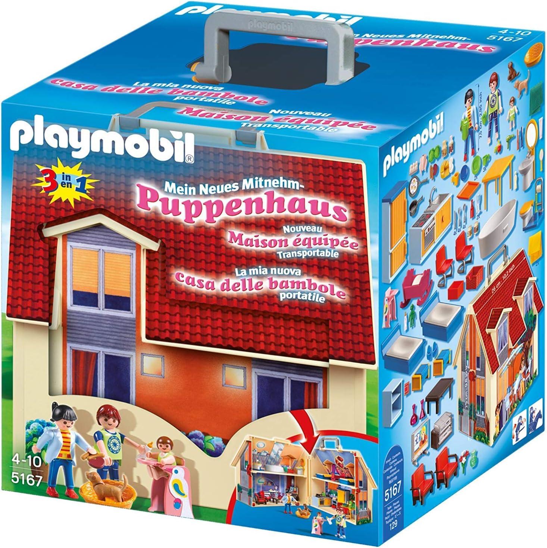 PLAYMOBIL Dollhouse Casa de Muñecas Maletín, A partir de 4 años (5167): Amazon.es: Juguetes y juegos