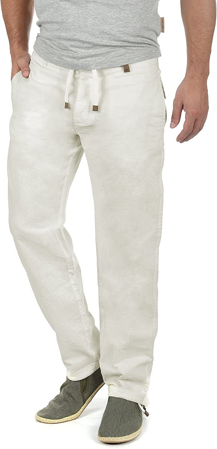 Indicode Ives Pantalón De Lino Largo Regular-Fit