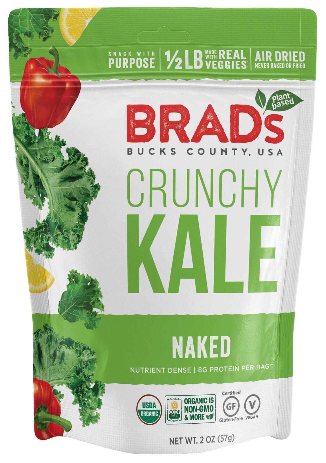 Brad's Plant Based Organic Crunchy Kale, Naked, 3 Count