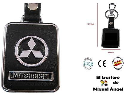 ETMA Llavero Cuero y Metal Compatible con Mitsubishi lla017 ...