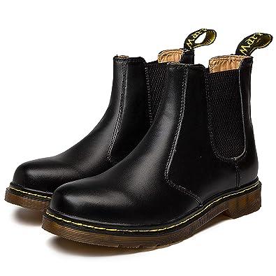 374abbbafbd2 Zkyo Chelsea Boots Damen Herren Kurzschaft Winter Stiefel Warm Gefüttert  Ankle Stiefeletten Rutschfeste Worker Boots Größe
