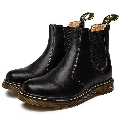 brand new 2fa98 417db Zkyo Chelsea Boots Damen Herren Kurzschaft Winter Stiefel Warm Gefüttert  Ankle Stiefeletten Rutschfeste Worker Boots Gr.35-45