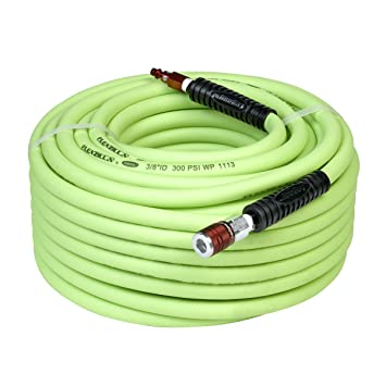 Flexzilla Air Hose With ColorConnex Industrial Type D Coupler And Plug, 3/8  In