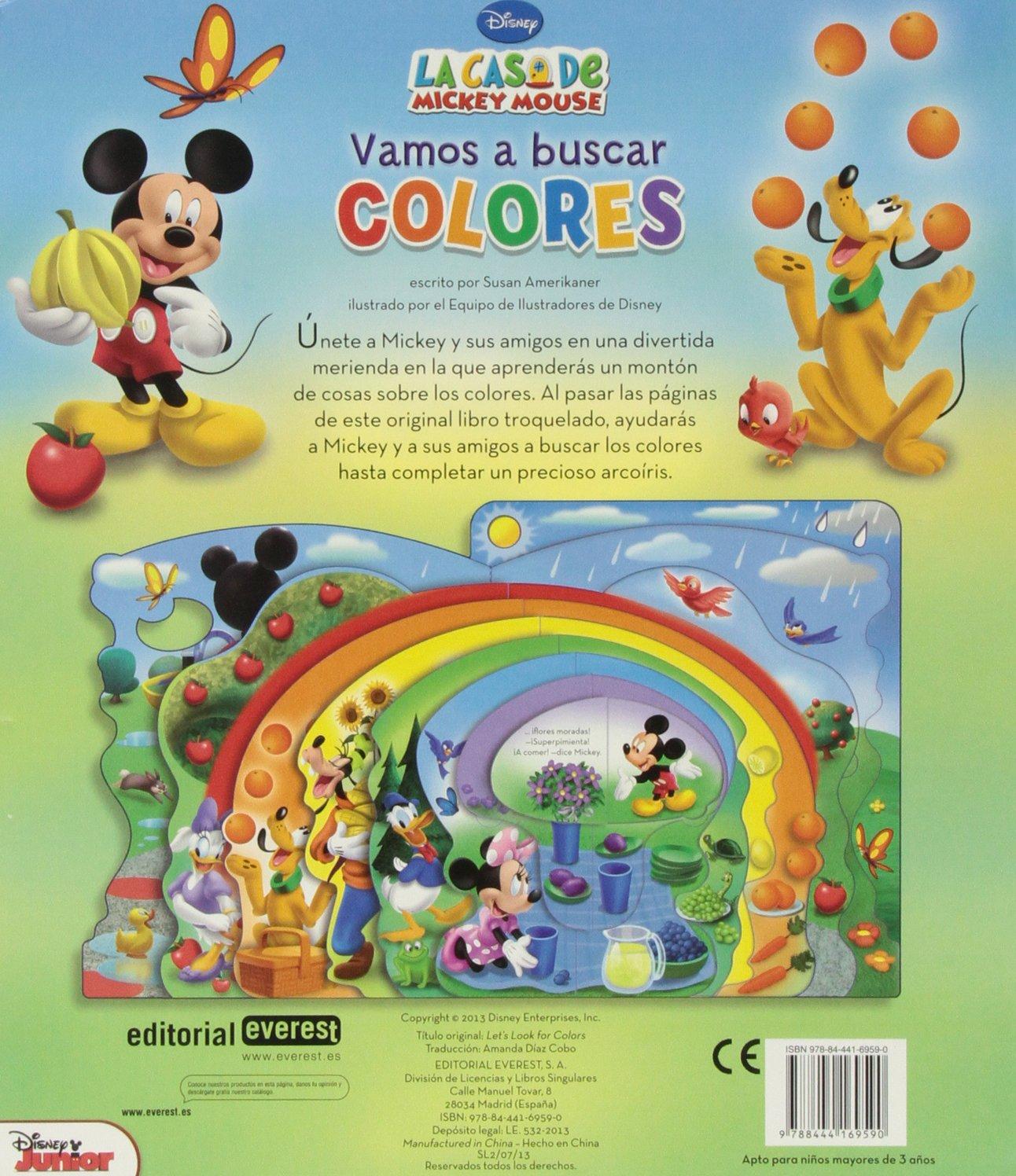 La Casa de Mickey Mouse: vamos a buscar colores: Susan Amerikaner ...