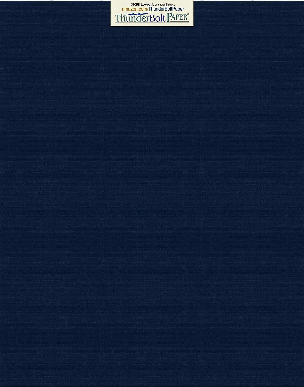 ダークネイビーブルーリネン80#カバーペーパーシート - 11インチ X 14インチ (11X14インチ) スクラップブック|写真フレームサイズ - 80ポンド/ポンドカード重量 - ファインリネンテクスチャ仕上げ - ディープダイ品質カードストック B00DHORUVS