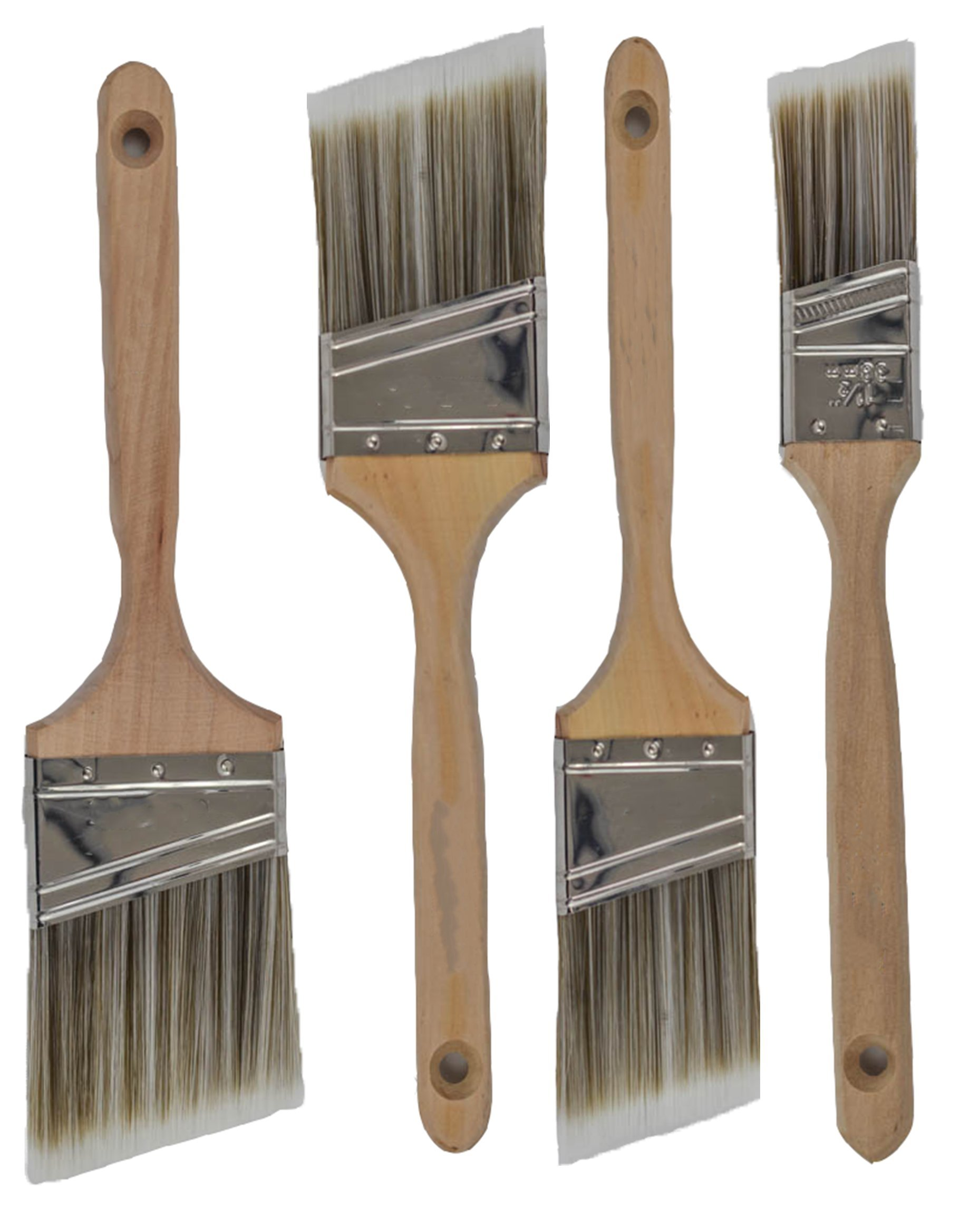Pro-Grade Premium Wall/Trim House Paint Brush Set Great for Professional Painter And Home Owners Painting Brushes For Cabinet Decks Fences Interior Exterior & Commercial Paintbrush. (4Pk)