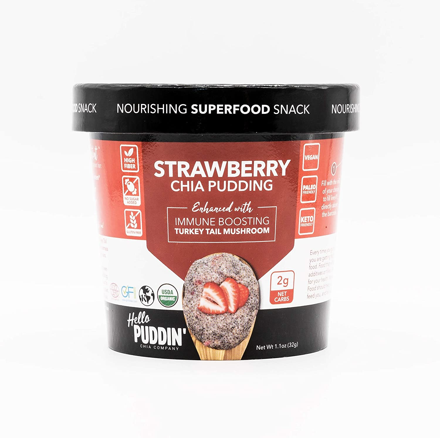 Hello Puddin' Strawberry Chia Seed Pudding Cup | 1 Pack