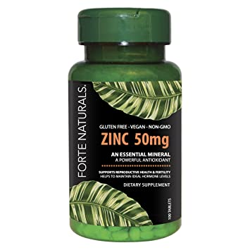 Amazon Com Zinc Vitamin Daily Supplement By Forte Naturals 50mg