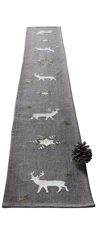 Tavolo Band invernale grigio 14x 160cm Frank Flechtwaren