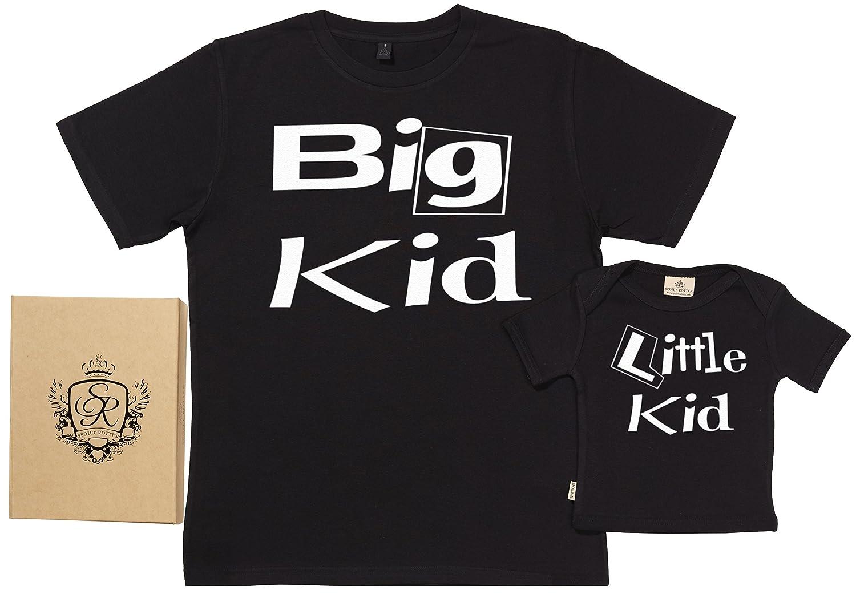 SR - Exklusive Geschenkbox - Big & Little KID 100% Biobaumwolle - Papa T-Shirt & Baby T-Shirt in Geschenkbox 104500P