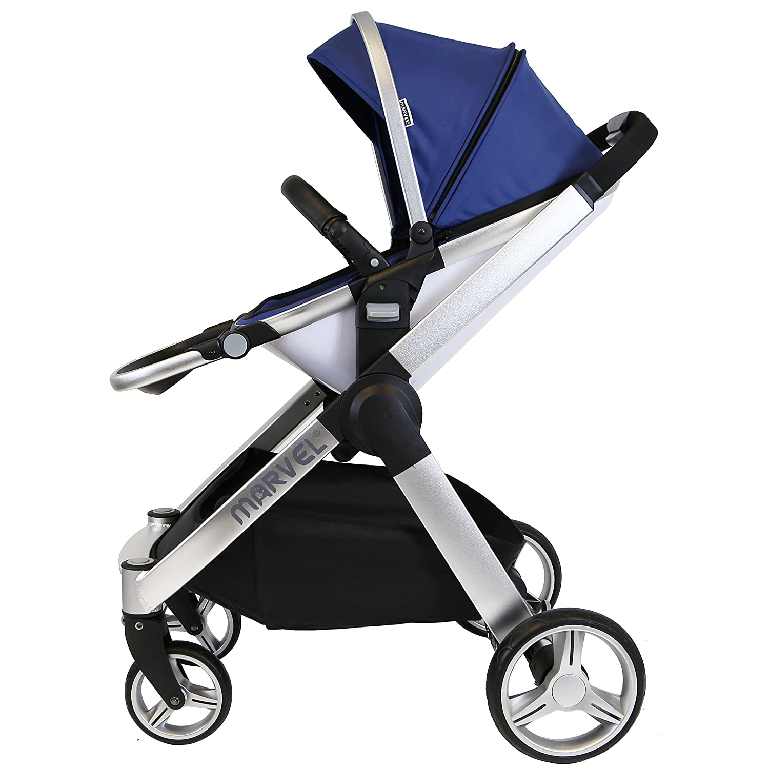 2017 Marvel 2in1 Pram Stroller Only Ocean Pearl Complete With Rain Cover