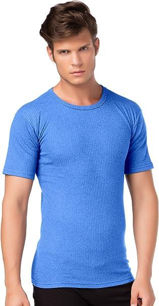 Stylenmore - Camiseta interior térmica de manga corta para hombre, tejido suave cardado