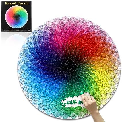 Buy Opolar Round Jigsaw Puzzles, Rainbow Palette Challenging