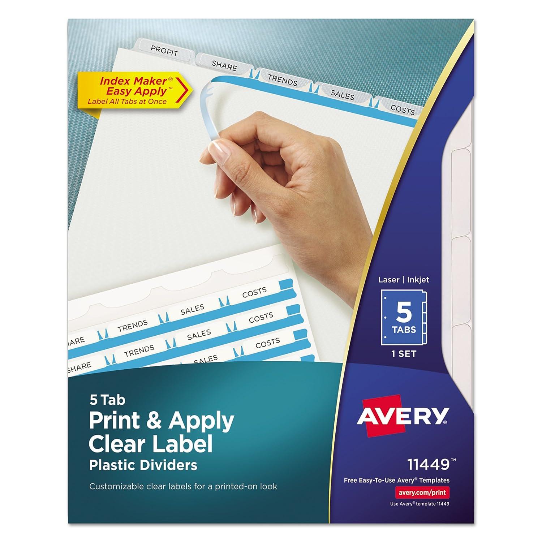 Avery 11449 De plástico Color blanco 5pieza(s) - Divisor (Color ...