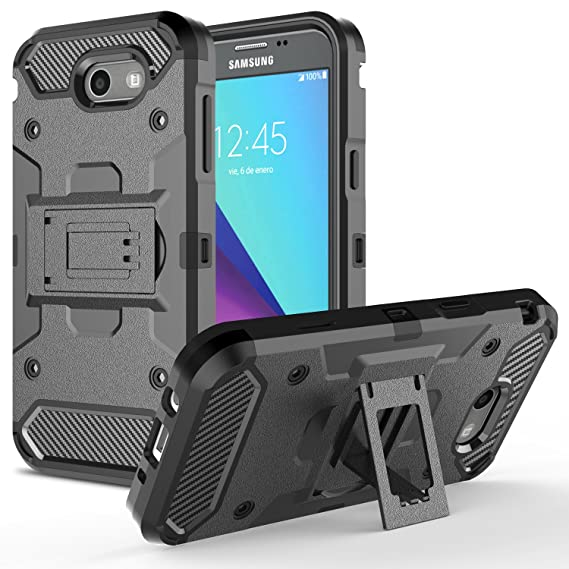 best sneakers 765c5 b2dee LG X Calibur Case, LG X Venture Case, Rosebono Heavy Duty Armor ShockProof  Protective Combo Kickstand Case Cover with Kickstand for LG X Calibur / V9  ...