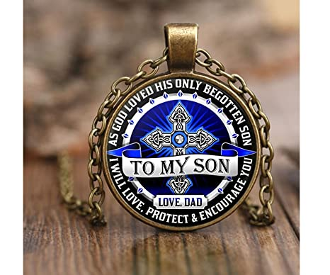 Amazon From DAD To SON Necklace Fathers Day Gift Birthday