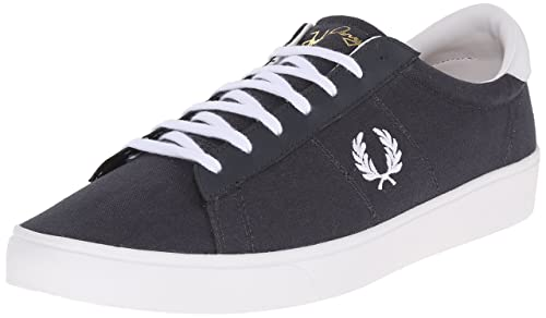 a062ce2e3eea0 Fred Perry Men's Spencer Canvas/Leather Fashion Sneaker, Charcoal ...