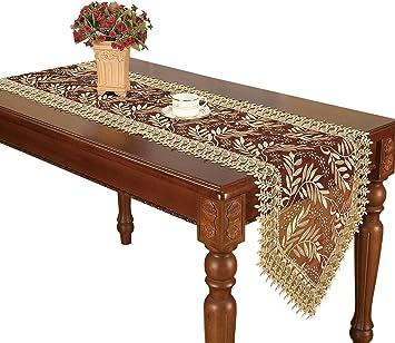 Amazon.com: Camino de mesa de adorno vintage, con bordado y ...