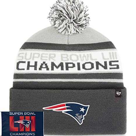 Image Unavailable. Image not available for. Color  Official Men s Super  Bowl LIII Champions Patriots Knit Beanie ... b90bc54bc16c