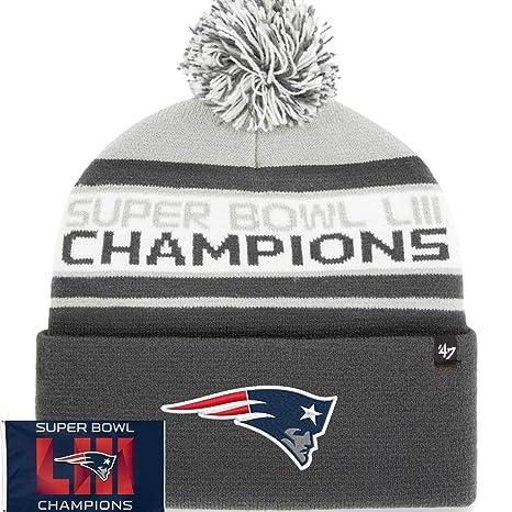 652d6c9a6 Image Unavailable. Image not available for. Color: Official Men's Super  Bowl LIII Champions Patriots Knit Beanie ...