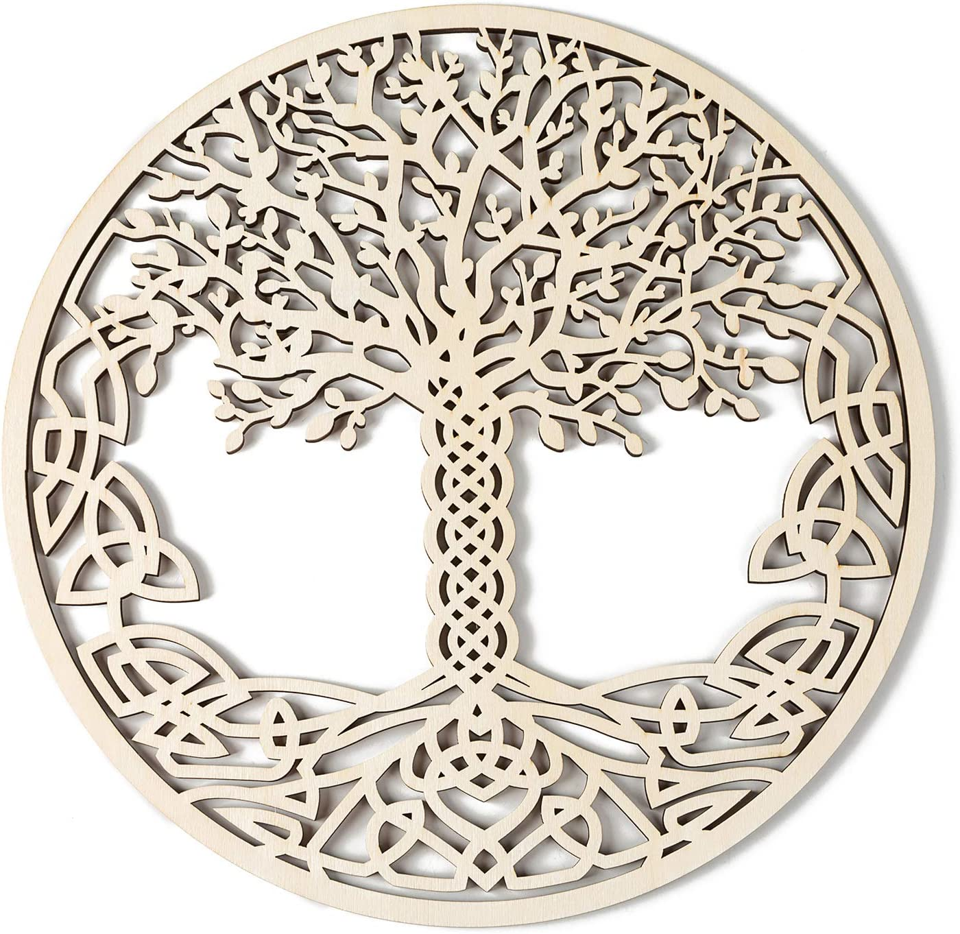 """Simurg 11.5"""" Celtic Tree of Life Wall Decor Wooden Tree of Life Wall Art - Housewarming Gift Home Decoration Indoor and Outdoor Wall Hanging Sculpture"""