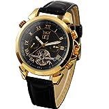 Gute Jaragar Luxury Style Automatic Mechanical Wrist Watch Decor Tourbillon Rose Gold
