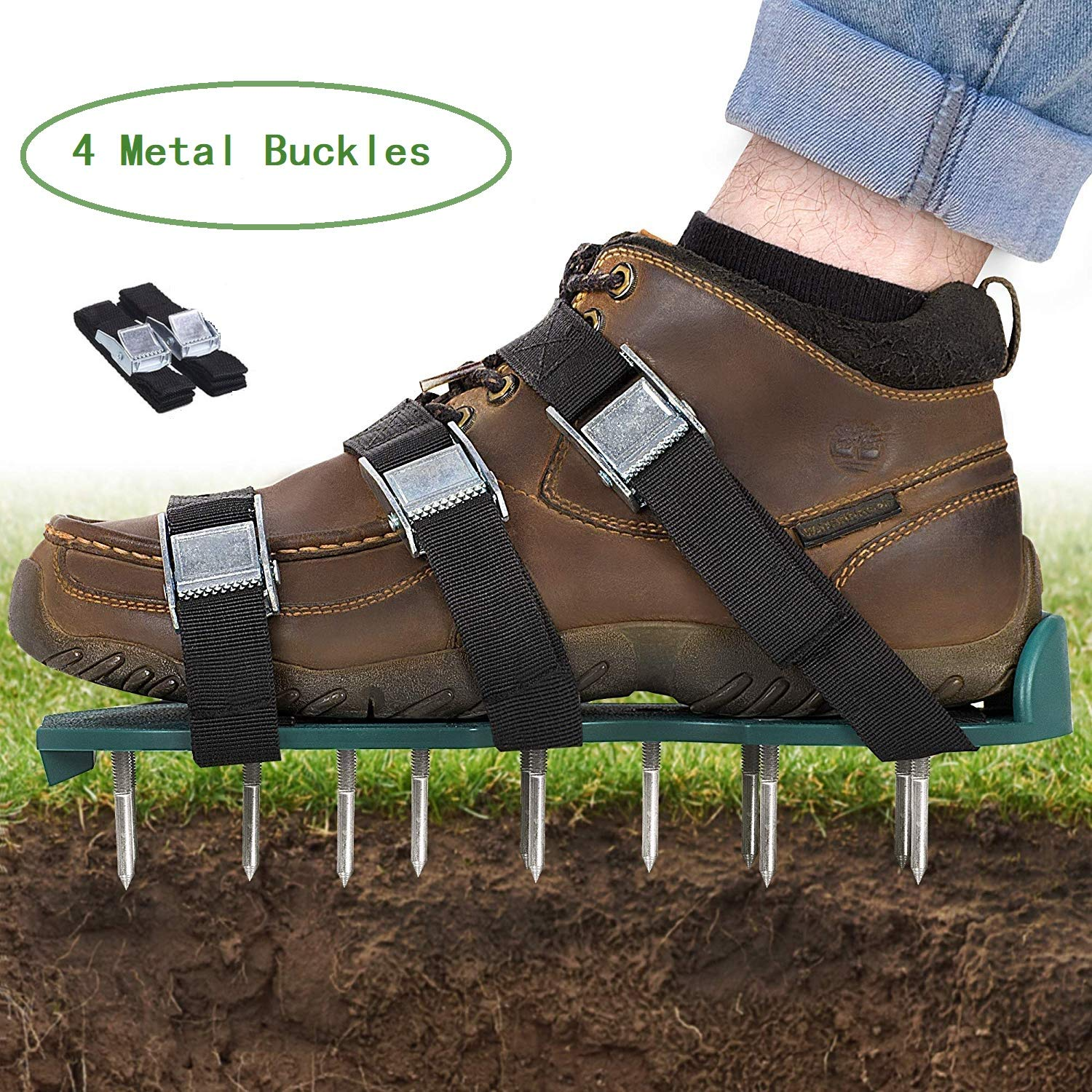 Oceanpax Lawn Aerator Spike Shoes 26 Spikes and 4 Adjustable Straps Ready for aerating Your Yard, Root & Grass by Oceanpax (Image #1)