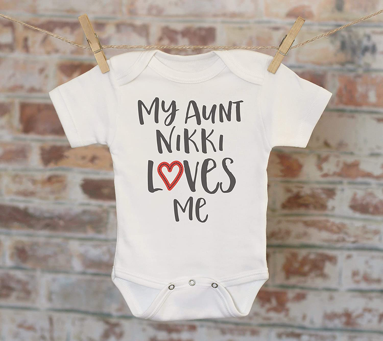 Customized I Love My Aunt Cute Baby Onesie