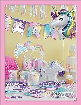 Partygram Set de Fiesta y decoración vajilla Feliz ...