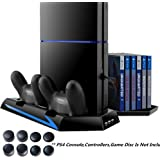 PS4 Vertical Stand with Cooling Fan Charger, DOUBI Charging Station