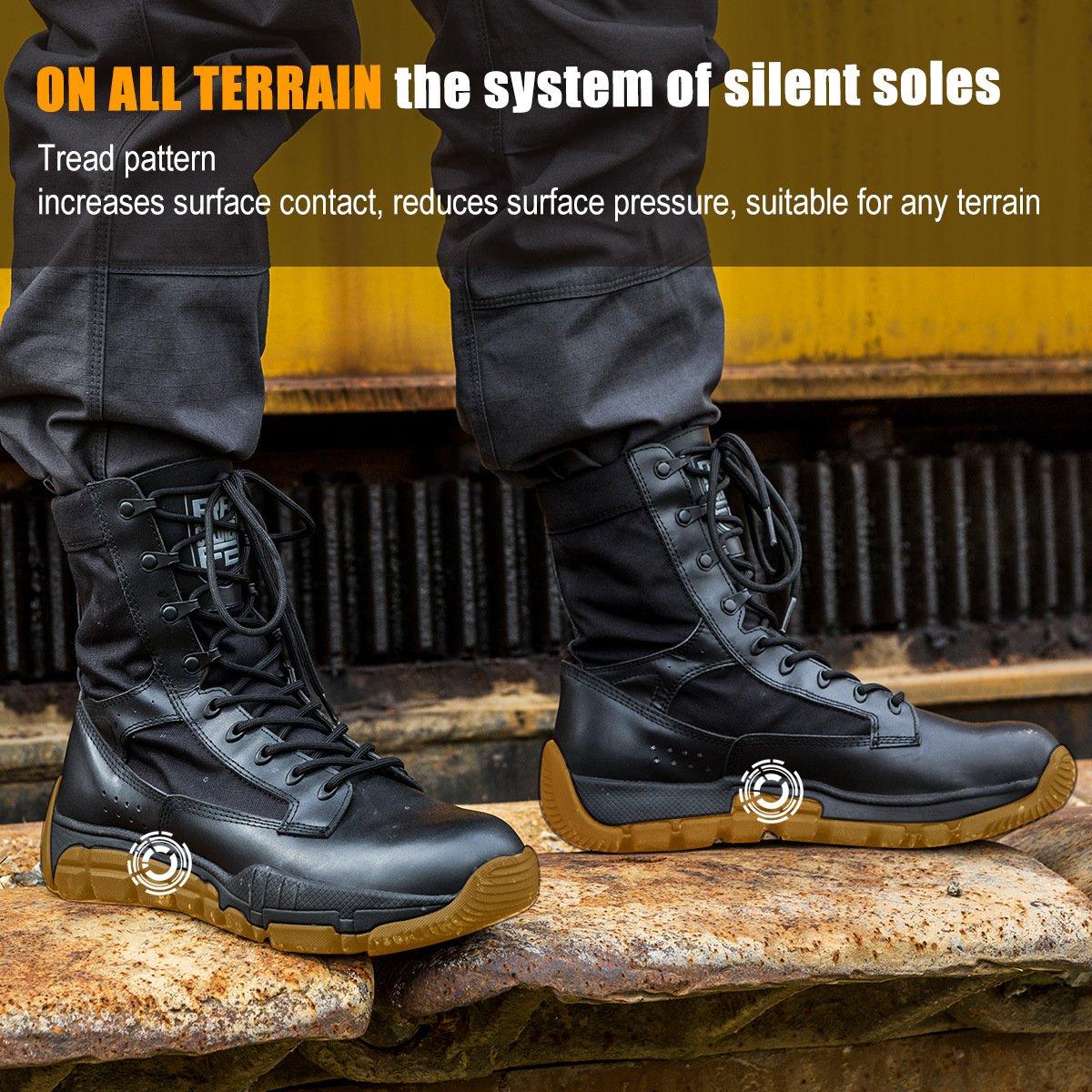 FREESOLDIER Soldier Free Soldier FREESOLDIER Military Herren Patrol Arbeit Wandern Stiefel Tactical Stellar Schuhe Leder Desert Combat Stiefel edafac