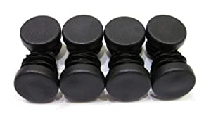 3/4 Inch Round Plastic End Cap (for Hole Size from 9/16 to 5/8 inches), Furniture Finishing Plug (Black, 8pcs)