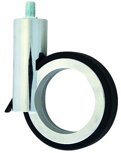 HSI Diseño de Ruedas para muebles (con lápiz y freno zamak, cromo/negro