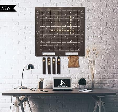 Juego de Scrabble de Pared único de TUBIU, Regalo extraordinario, decoración de Pared, Arte de Pared: Amazon.es: Hogar