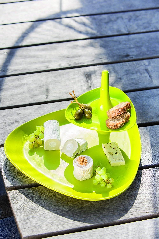 33,1x33,4x17,4 cm Plastique Koziol 3580525 Assiette /à Snack Betty Tray Blanc