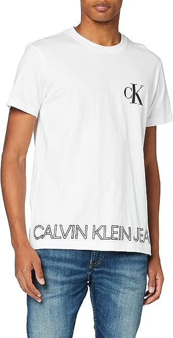 Calvin Klein Outline Logo Hem tee Camisa para Hombre