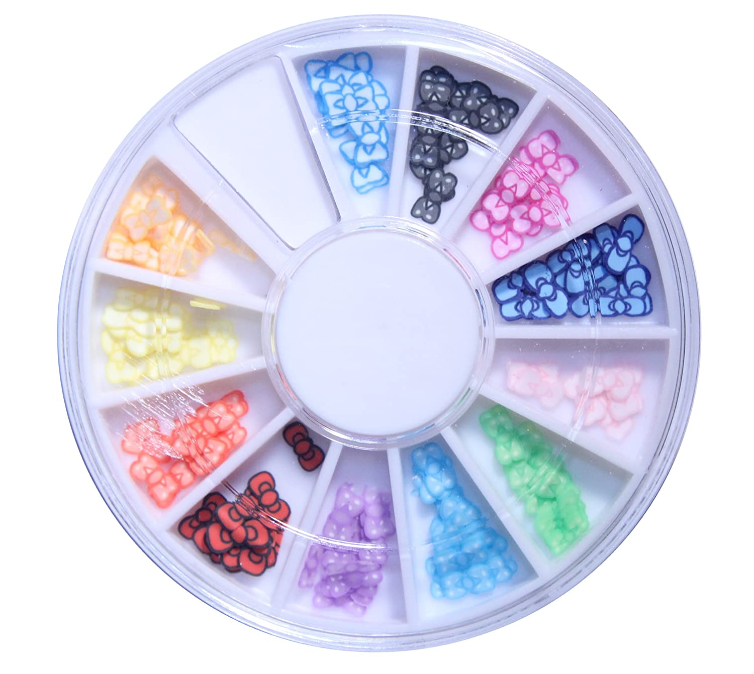 3D Fimo Bow Slices Decoration Nail Art Wheel by La Demoiselle