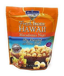 MacFarms Dry Roasted Macadamia Nuts With Sea Salt Fresh From Hawaii 24 Ounce