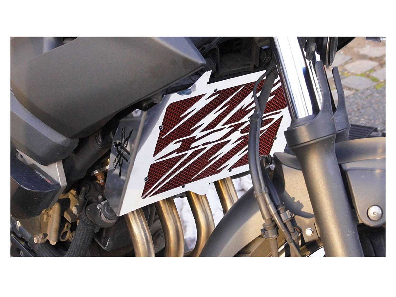 Protezione radiatore/copri radiatore Yamaha 600 XJ6 2009>2016' Eclair + grata anti ghiaietto rossa Wiltuning